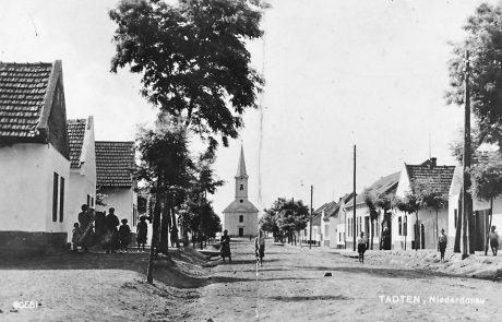 Die Untere Hauptstraße in Tadten vor 1945