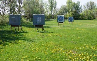 Zielscheiben auf der Bogenschützenanlage