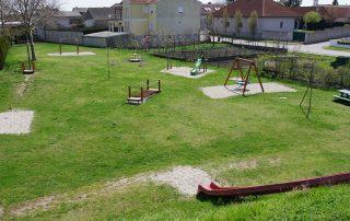 Blick auf den Spielplatz Tadten