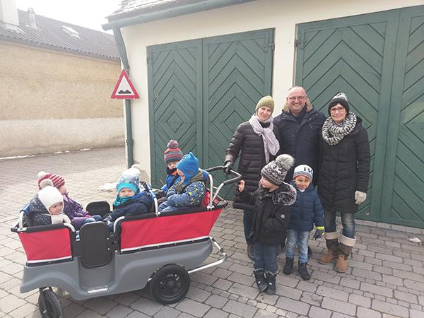 Transportwagen für den Kindergarten Tadten