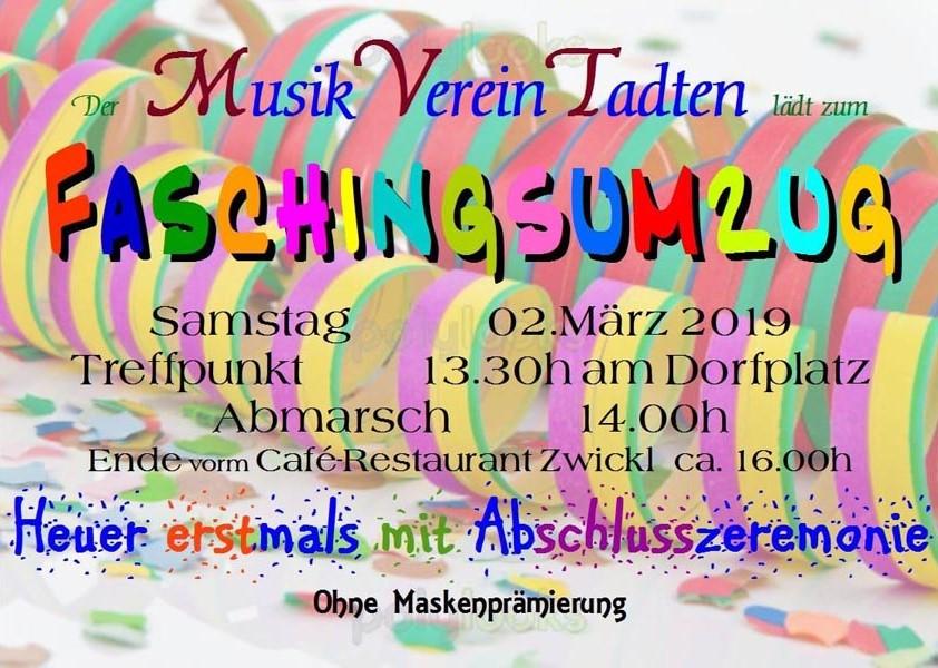 Flyer Faschingsumzug 2019